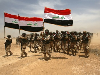 Iraqi troops in training, May 2015