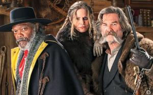 Samuel L. Jackson, Jennifer Jason Leigh & Kurt Russell star in The Hateful Eight. Image courtesy of Weinstein Company.